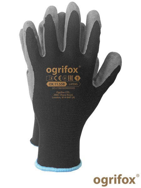 OX-LATEKS BS 7 - PROTECTIVE GLOVES OX.11.558 LATEKS