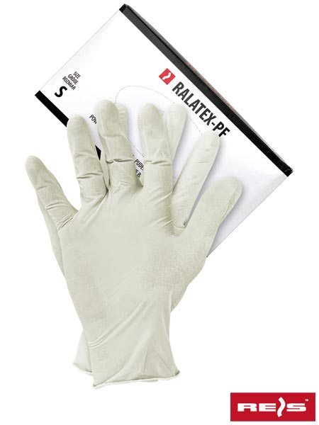 RALATEX-PF W XL - LATEX GLOVES