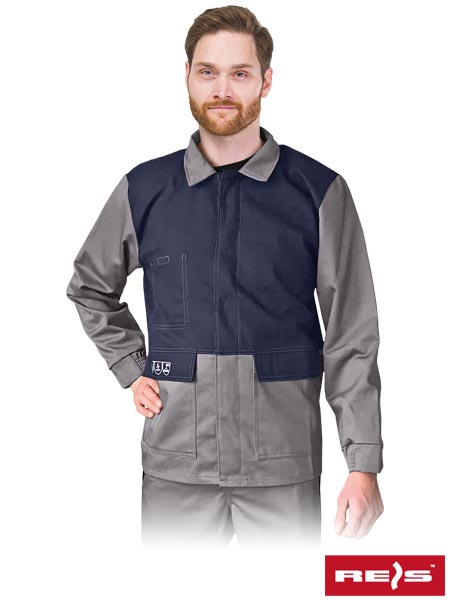 WELD-J SG XXXL - ANTISTATIC, FLAME RETARDANT PROTECTIVE BLOUSE FOR WELDERS