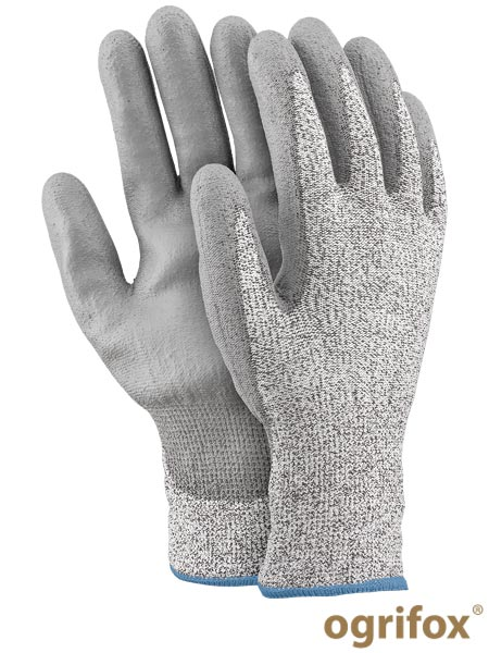 OX-STEEL-PU BWS 8 - PROTECTIVE GLOVES OX.12.844 STEEL-PU