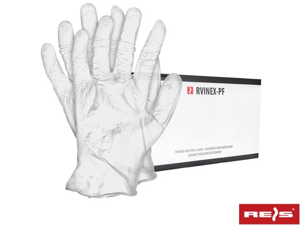 RVINEX-PF T XL - VINYL GLOVES
