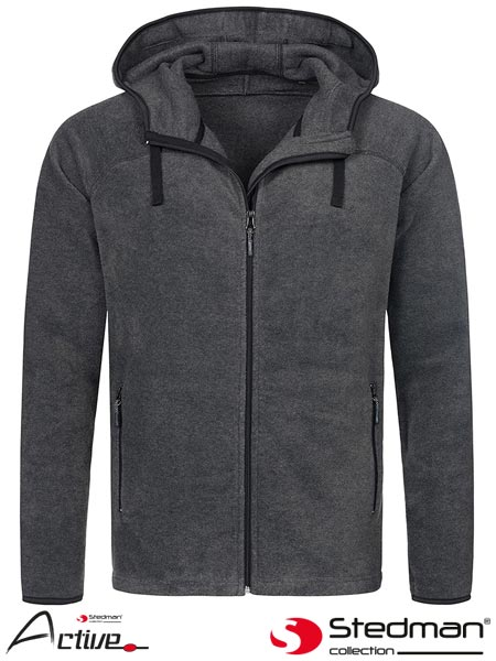 SST5040 GYH S - HOODED FLEECE JACKET MEN