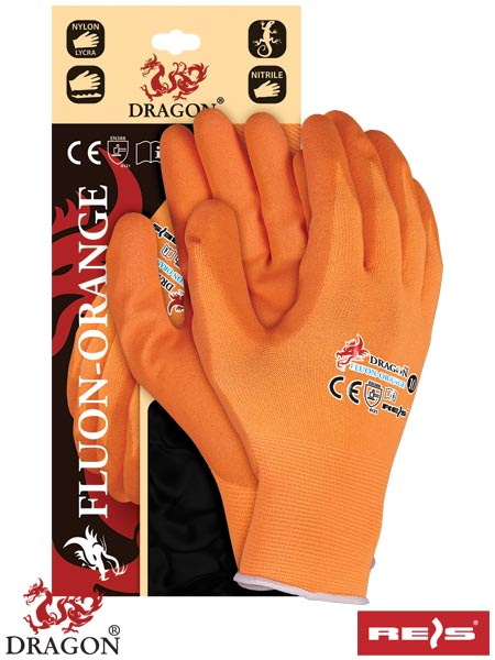 FLUON-ORANGE PP 9 - PROTECTIVE GLOVES