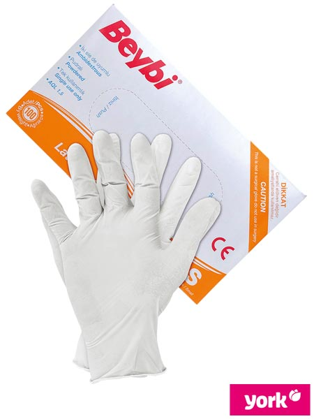 RLAT-BEYBI(8) W - LATEX GLOVES 8% VAT