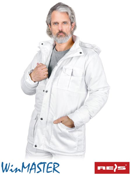 KMO-WHITE W 2XL - PROTECTIVE INSULATED JACKET