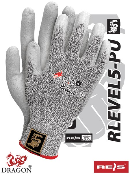 RLEVEL5-PU BWS 10 - PROTECTIVE GLOVES