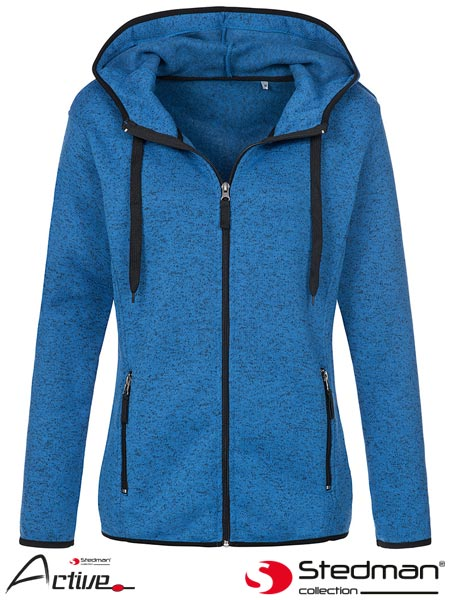 SST5950 DGM XL - KNIT FLEECE JACKET FOR WOMEN