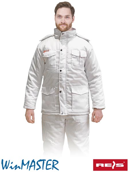 KMO-WHITE W M - PROTECTIVE INSULATED JACKET