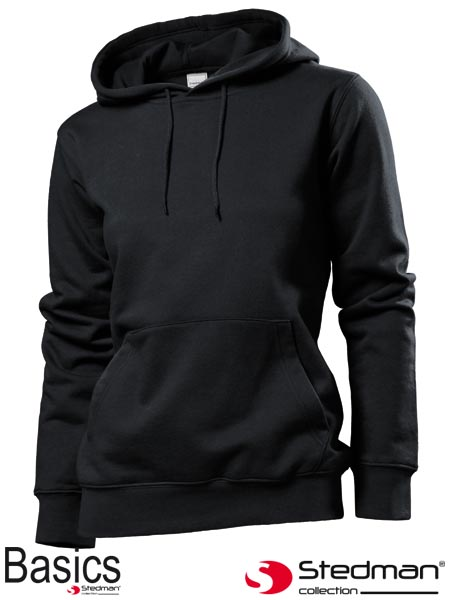 SST4110 WHI L - HOODED SWEATSHIRT WOMEN