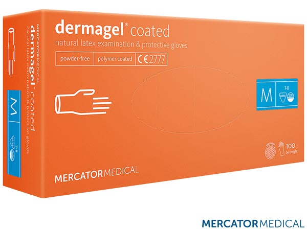 RMM-DERMAGEL KR L - LATEX GLOVES 8% VAT