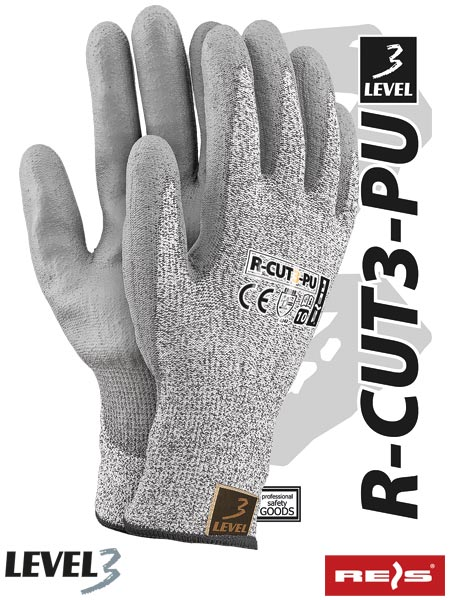 R-CUT3-PU BWS 7 - PROTECTIVE GLOVES