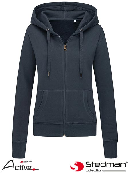 SST5710 BLM L - HOODED SWEATJACKET FOR WOMEN