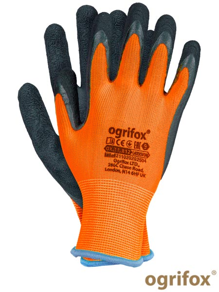 OX-LATEKSFOM YB 8 - PROTECTIVE GLOVES OX.11.812 LATEKSFOM