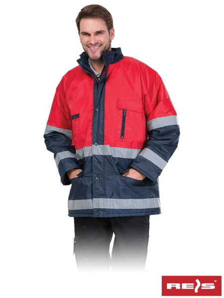 BLUE-RED GC M - PROTECTIVE INSULATED JACKET
