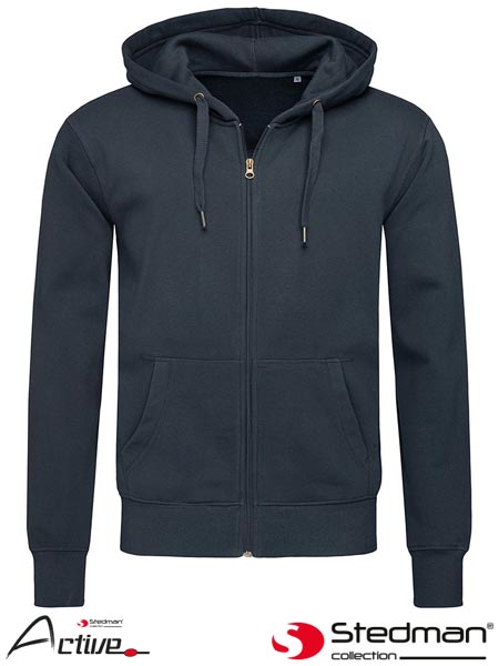 SST5610 BLM XXL - HOODED SWEATJACKET FOR MEN