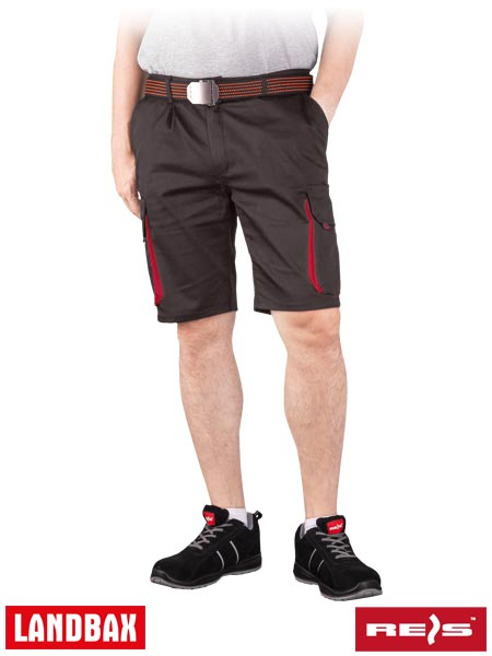LAND-TS GY 2XL - PROTECTIVE SHORT TROUSERS